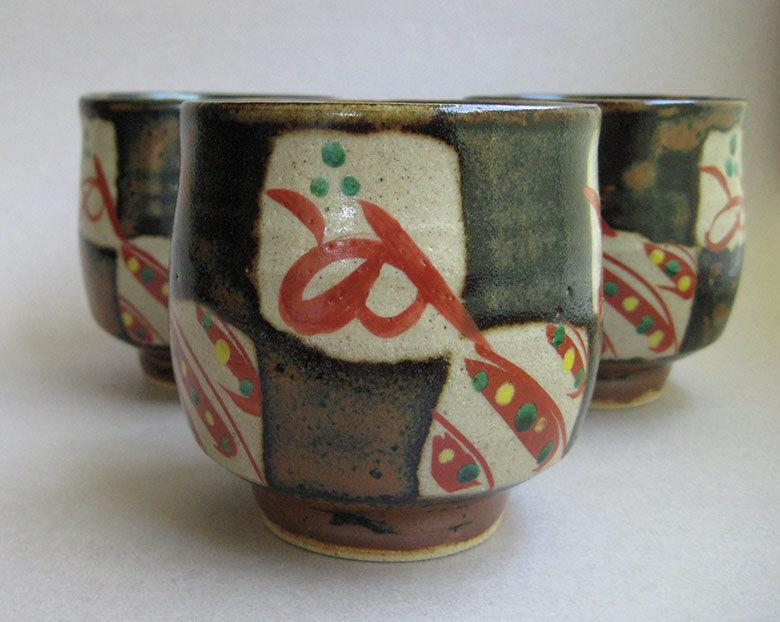 Yunomi, Tea Cups, Mashiko-yaki, by Tagami Munetoshi