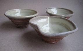 Sake Cups, Guinomi, set of 3, by John Benn