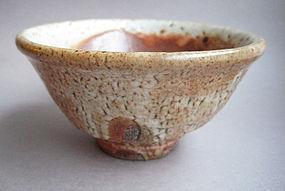 Matcha Chawan, Tea Bowl, Shino Glaze. John Benn