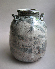 Vase with Lug Handles on Shoulders, Sachiko Furuya