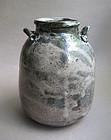 Vase with Lug Handles on Shoulders, Sachiko Furuya