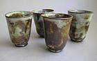 Tea or Sake Cups, set of four, by Sachiko Furuya