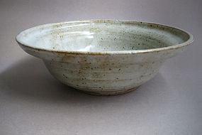 Deep Bowl, White Shino Glaze, Sachiko Furya