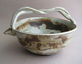 Braid-handled Bowl for Sake, Flowers, Food; Sachiko Furuya