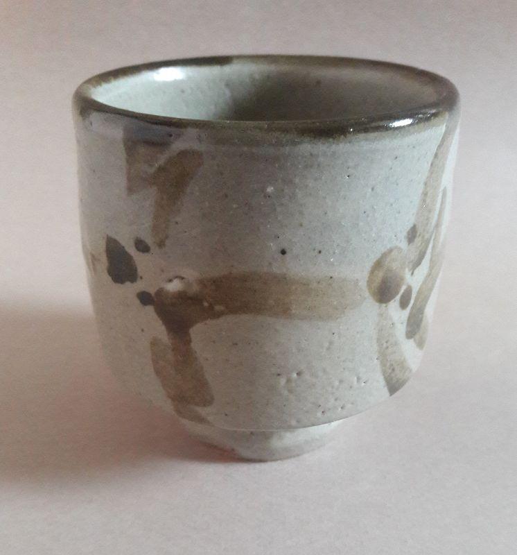 Yunomi, Tea Cup; Mashiko-yaki, Isamu Tagami   Yunomi, Tea Cup; Mashiko