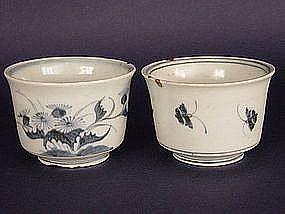 Soba Choko (soba noodle cups), Japanese Imari ware