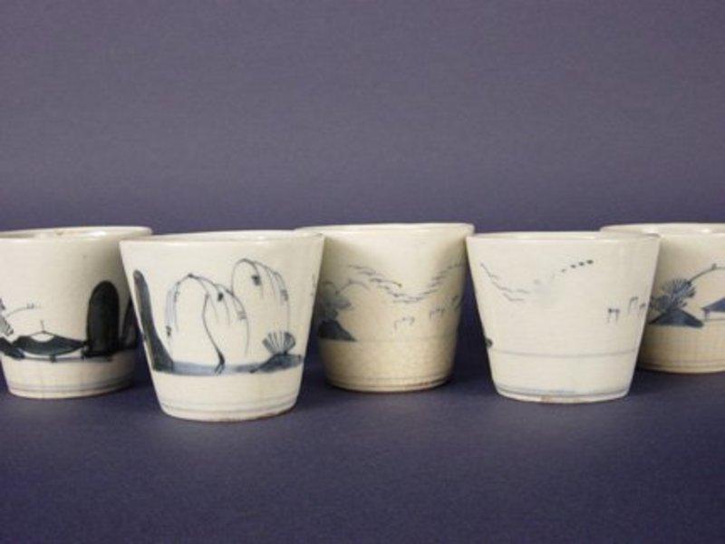 Soba Choko (Noodle Cups),Early Meiji Era, 5 pcs.