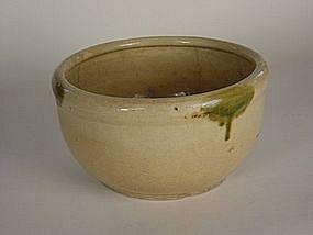 """Seto ware """"konebachi"""" kneading bowl, Meiji Era"""