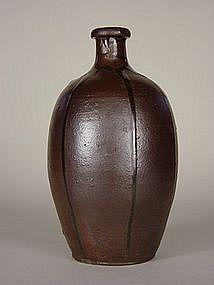 Tamba ware tokkuri (sake flask), Meiji Era