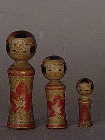Kokeshi, Japanese Folk Toys, Naruko-kei