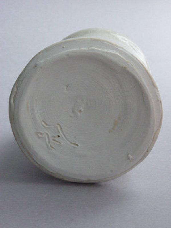 Vase (kabin,) Shino glaze, Sachiko Furuya