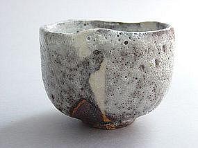 Tea Bowl, Woodfired, Shino glaze, George Gledhill