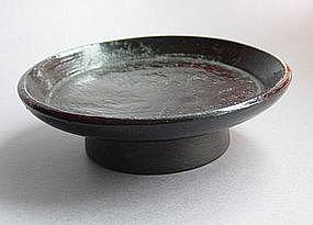Takatsuki (Lacquer Footed Tray); Wood, Japan