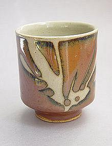 Mashiko Teacup, Yunomi, Kaki Glaze