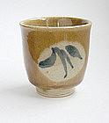 """Mashiko Yunomi, Tea Cup, """"Ame"""" Glaze"""