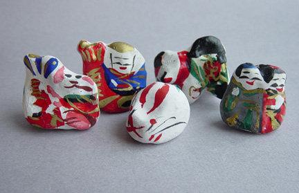 Takamatsu Yomeiri Ningyo, Clay Bridal Trousseau Dolls