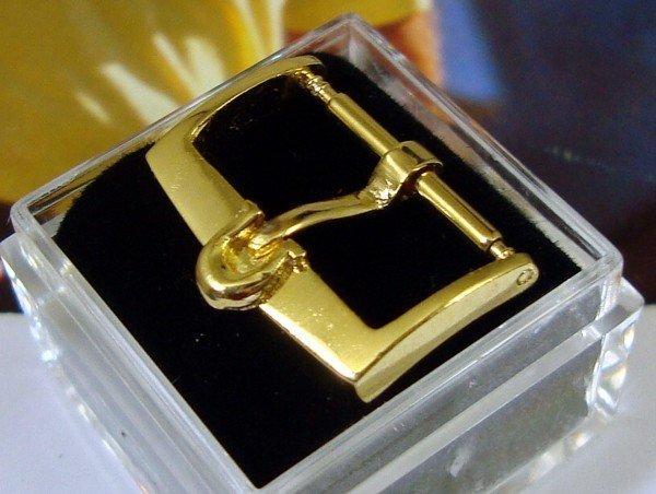 Vintage Omega Yellow 16mm Logo Buckle Aciernox Deposc