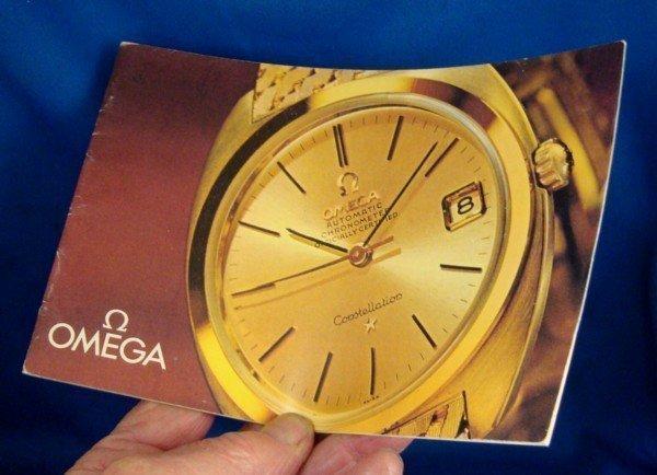 OMEGA Brochure 18k GOLD Models Identification Circa: Germany 1963