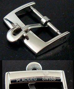 OMEGA 16mm Steel Logo Buckle PLAGUEG SWISS high Grade - Factory PKG