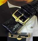 Vintage Omega Constellation Series 16mm Yellow Logo Buckle 18mm Strap
