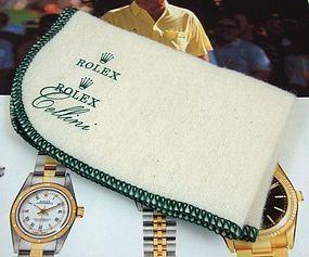 Rolex Cellini Presentation Polishing Cloth 9 by 6 inche