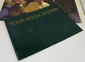 Vintage ROLEX Green instruction book.  3.5 by 5 inch si RA