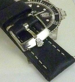 ROLEX SUBMARINER GMT Explorer Model Black 20mm stitched SUISSE QUALITE