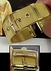 Rolex 18mm Logo Buckle placed on a generic 18k Plate 20mm Mesh Metal