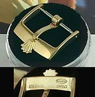 ROLEX 16mm Logo Buckle 18k Yellow Plate ACIERINOX ROLEXSA High Quality
