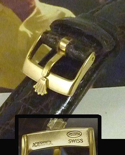 ROLEX DATEJUST 16mm Buckle 18k Gold Plate 20mm Tobacco CROCODILE