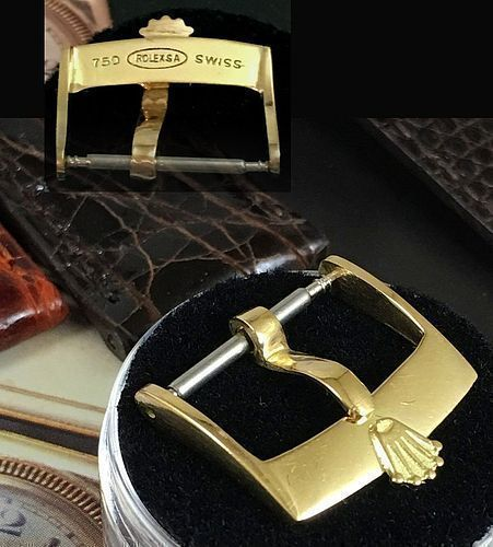 Vintage ROLEX 18k GOLD 16mm Buckle 750 ROLEXSA SWISS