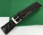 Genuine CROCODILE 19mm STRAP Padded Stitched TOBACCO Color ITALIAN