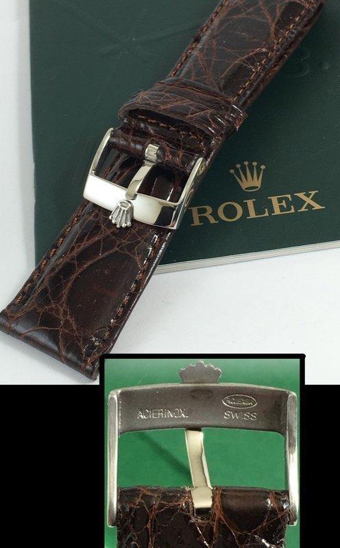 ROLEX DATEJUST II 18mm Steel Logo Buckle 22mm Tobacco CROCODILE
