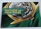 ROLEX FACTORY SERVICE Brochure 21 Pages Watch Care and maintenance