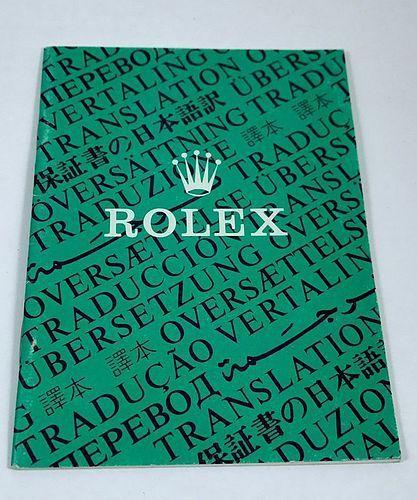 Vintage ROLEX Translation Information Brochure 12 Languages 1974