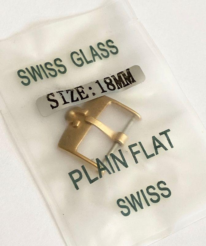 Omega 18mm Yellow 18k Gold Plated marked: ACIERINOX SWISS