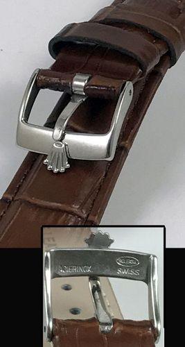 ROLEX SPORT Model 16mm Steel Buckle 20mm Brown Crocodile Calf Strap