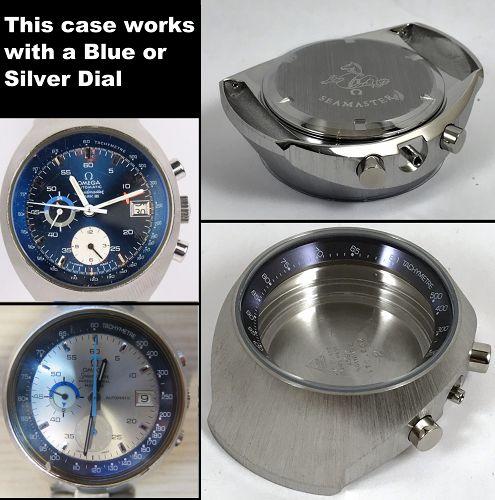 OMEGA SEAMASTER MARK III CHRONOGRAPH CASE BLUE BEZEL 176.002