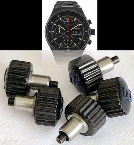 PORSCHE Lemania 5100 BLACK PVD BRACELET 20mm Factory Genuine Original