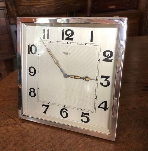 Jaeger-LeCoultre 8-DAY Rectangular Mantel Clock 7.25 x 7,25 inch C1930