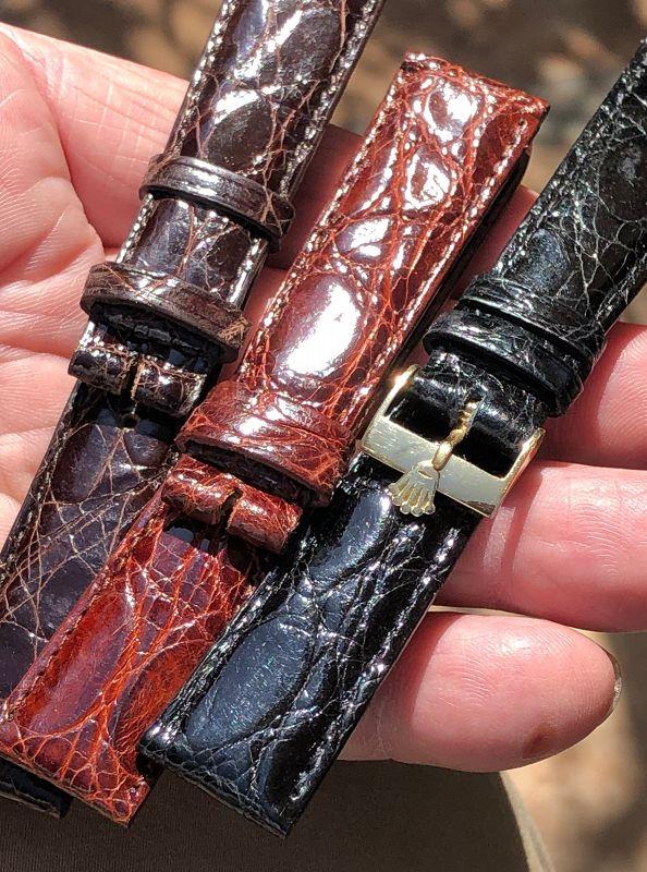 ROLEX 1962 18k 16mm Buckle 750 ROLEXSA SWISS 20mm CROCODILE
