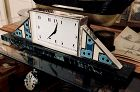 CARTIER by Jaeger-LeCoultre MANTEL CLOCK .935 Sterling Enameled 1928