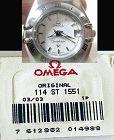 OMEGA Caliber 1551 Original Link.  114 ST 1551 Factory packaged unused
