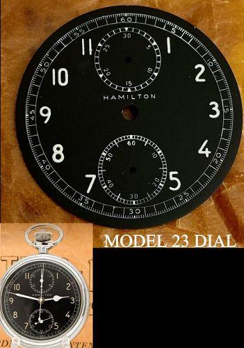 HAMILTON MODEL 23 WWII Military Chronograph Black Dial C: 1942