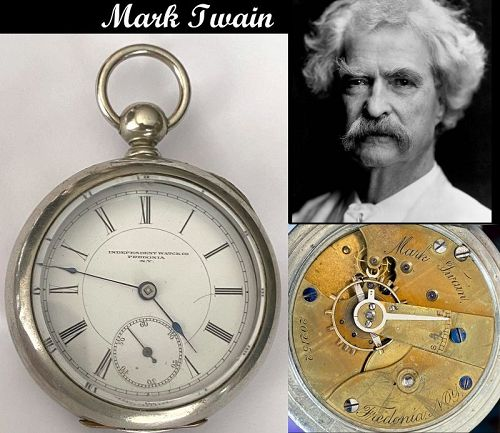FREDONIA WATCH CO. Fredonia, N.Y. MARK TWAIN C:1882
