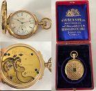 ELGIN 14k GOLD BOX HINGED HUNTING CASE 6 Size : C: 1881