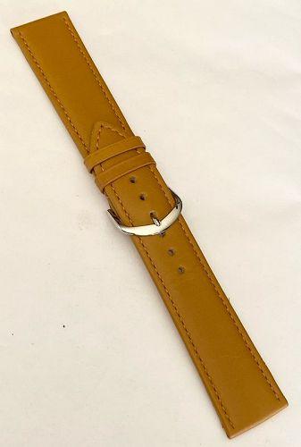 RIOS1931 Genuine Calf Leather Watch Strap 22/20mm Honey Brown Toscana
