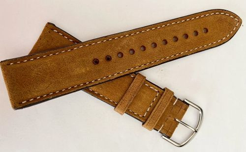 ITALIAN VINTAGE OAK LEATHER Hand Crafted 22/20MM Genuine Leather