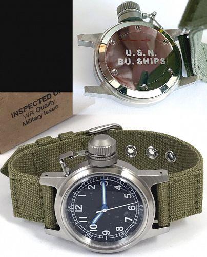 U.S.N. Bu. of Ships Canteen Navy Military Wristwatch