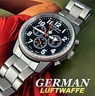 NEW GERMAN CHRONOGRAPH AIR FORCE LUFTWAFFE OFFICERS MODEL WRIST
